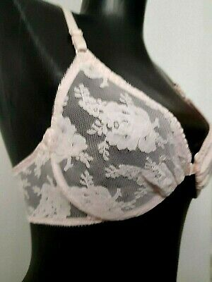 Christian Dior Vintage Bra Front Closure Intimates Pink 34B New With Tags