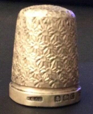 Vintage Silver Thimble Hallmarked: 1927, Henry Griffith & Sons(HG&S) 3.2g  I5