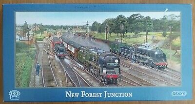 GIBSONS NEW FOREST JUNCTION TRAINS /& RAILWAYS 636 PIECE JIGSAW PUZZLE
