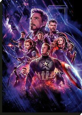 Avengers End Game Movie Hero Collage Large CANVAS Art Print Giant A0 to Small A4