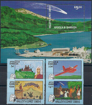 "1986 ""Antigua+Barbuda"" Halley´s Comet, Sheet Nr. 107+compl. Set, MNH, CAT 21$"