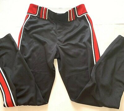 6dfcb064b1d6 BOOMBAH Baseball Softball PANTS Size 38 Extra Long Black Red White GUC