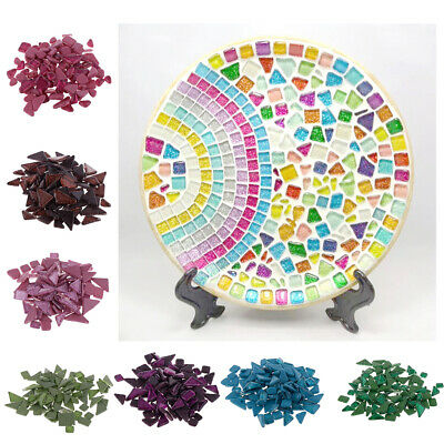 1400g Glitter Crystal Glass Mosaic Tiles Home Decors for Art Craft Supply