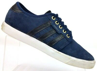 Details about Adidas Seeley Navy White Suede Mens Originals Trainers UK 7.5