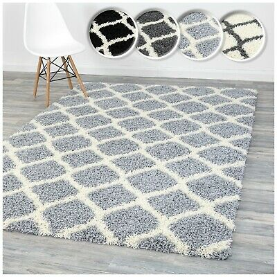 Assorted Colours Soft Fluffy Trellis Floor Area Rugs & Rug Runners For All Rooms