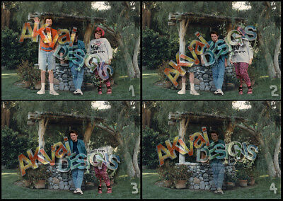 Back to the Future Replica Marty McFly fading photos x4