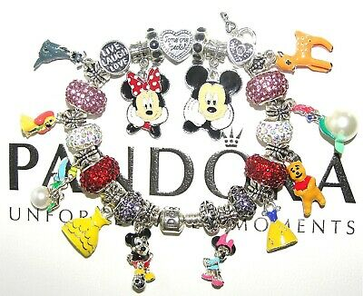 Authentic Pandora Bracelet DISNEY FAVORITES, MICKEY MINNIE MOUSE European Charms