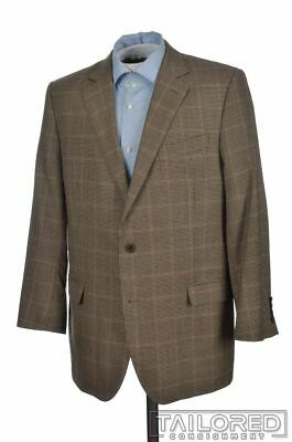 BROOKS BROTHERS Fitzgerald Brown Houndstooth Check Wool Blazer Sport Coat - 43 R