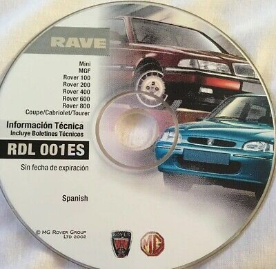 Technical Information Disk / CD - T4 MG Rover / Testbook RDL 001ES No Expiration