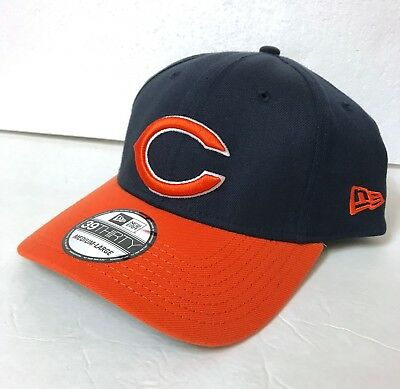 2d1062551 new era CHICAGO BEARS HAT navy blue stretch-fit 39Thirty structured FLEX M/L