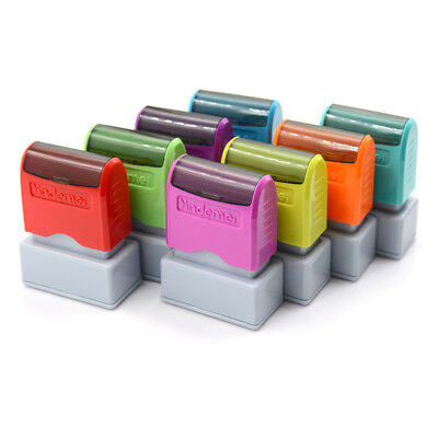 custom pre self inking office company personalized return address rubber stamp G