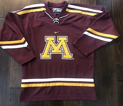 the latest 7e284 1a364 Nike Bauer Minnesota Golden Gophers Stitched Hockey Jersey Men Adult Lg