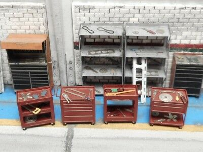 1/87 HO SCALE tool cart kit for model train layout engine shed interior  diorama