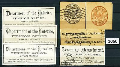 Dealer Dave Stamps NICE LOT OF EARLY FREE FRANKING, OFFICIAL BUSINESS (1060)