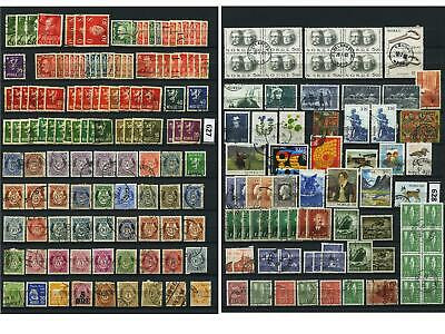 Dealer Dave Stamps NICE OLDER NORWAY LOT/COLLECTION 200+ STAMPS (625-26)