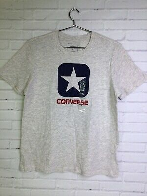 935f0f2a77ba Converse All Star Chuck Taylor Classic Fit Tee T-Shirt Gray Navy Women s  Size L