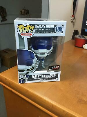 Funko Pop Games Mass Effect Andromeda Sara Ryder Masked 186 Gamestop Exclusive