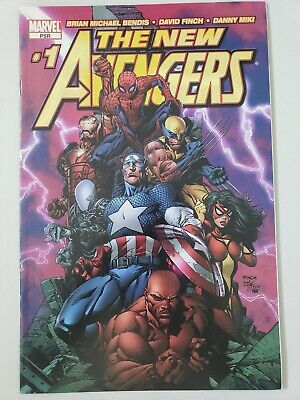 The New Avengers #1 (2005) Marvel Comics David Finch! 1St Cover Appearance Ronin