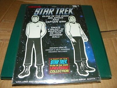 Star Trek -Glow In The Dark- Classic Spock and Capt. Kirk-1991 -SEALED-LAST ONE