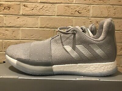 d7416e564e06 Adidas Harden Vol 3 Basketball Shoes F36443 Grey Metallic Silver men s sz 9
