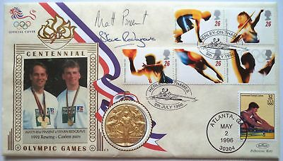 Pinsent & Redgrave 1992 Olympic Games Gold Medal Signed Commemorative Fdc