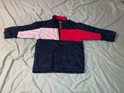 Tommy Hilfiger Puffer Jacket Youth Size 6 Big Logo