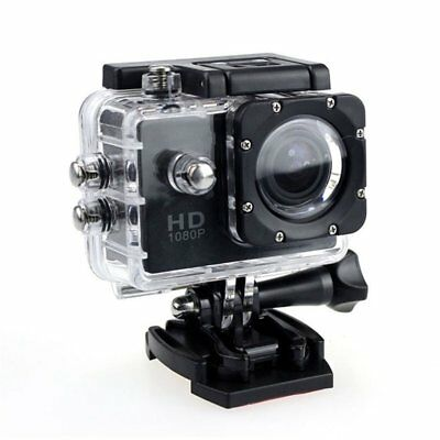 Black Motor Bike Motor Cycle Action Helmet Sports Camera DV Cam HD 1080P