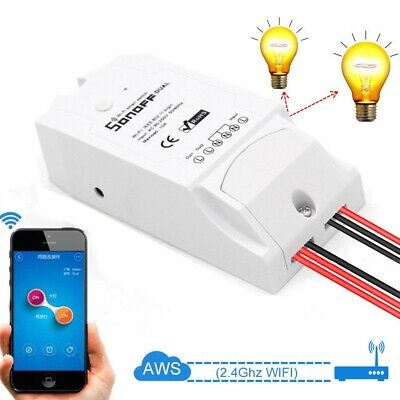 Sonoff Dual Way Smart WiFi Switch Module IOS Android APP Wireless Remote Control