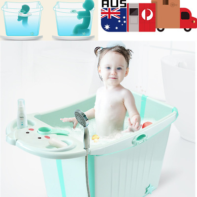 Kids Water Chest Foldable Bath Tub Baby Toddlers Large Thickening Bubble Bathtub
