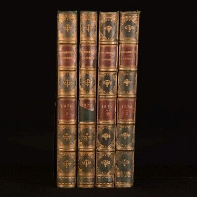 1870-1872 4vol Chambers's Journal of Popular Literature Science and Arts