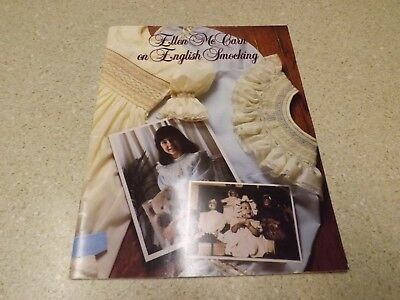 Ellen Mccarn On English Smocking Book 1986 In Excellent Condition Pattern How To