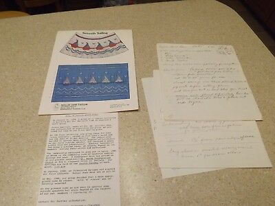 Handwritten English Smocking Directions Pattern How To Drawings & Sailors Chart