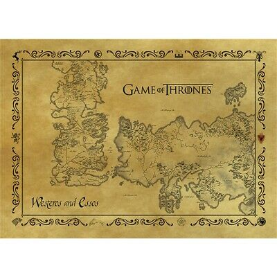 Game Of Thrones Antique Map Postcard - Brown Westeros Essos Targaryen Stark