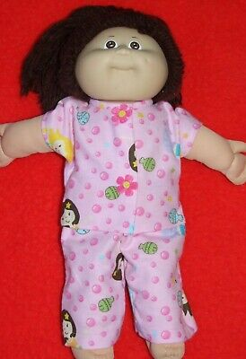 """16"""" CABBAGE PATCH Dolls Clothes / Pyjamas ~ PJ's / Pink with bubbles"""