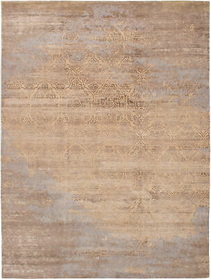 "Hand-knotted Carpet 8'10"" x 11'10"" Elixir Traditional  Rug"