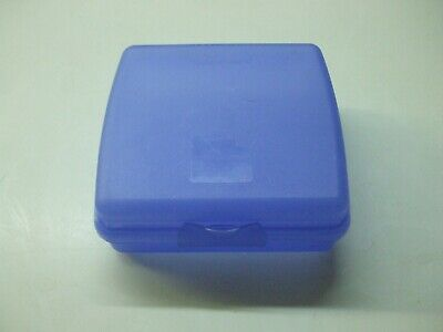 Tupperware Square Sheer Blue Sandwich Bagel Fruit Keeper Container 3752