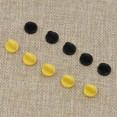 919cc55c613d Pack of 25 Rubber Badge Lapel Hat Tie Tack Pin Back Holder Clasp Black  Yellow