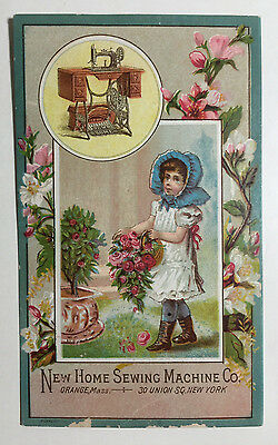 Victorian Trade Card New Home Sewing Machine Co George Schieder Syracuse NY
