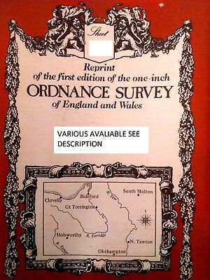 Reprint First Edition Ordnance Survey England&Wales Sheet-64 COLCHESTER &IPSWICH
