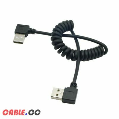 CableCC USB A Type Male to 90 Angled USB Male Right Angled Stretch Cable 100cm