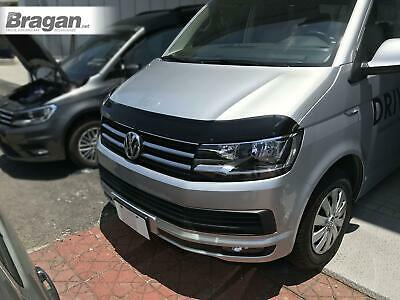 To Fit 15+ Volkswagen Transporter T6 Smoked Hardened Acrylic Bonnet Guard Shield