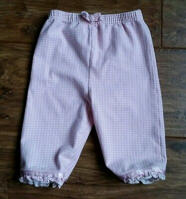 Cherokee (Tesco) Pink Gingham-Style Trousers (3 - 4 years) - Very Good Condition