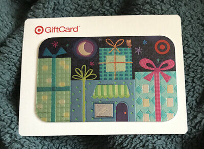 Target Gift Card Holiday 2008 City Building Presents At Night No Value New