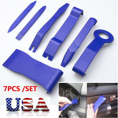 7PACK Car Door Panel Dashboard Stereo Radio Trim Set Molding Removal Tool Kit