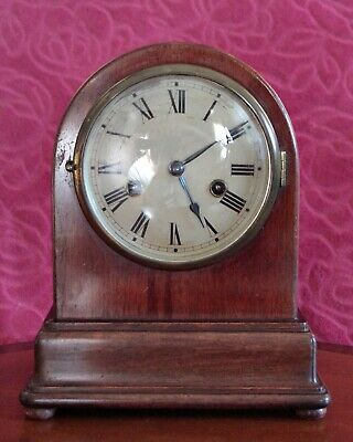 Antique German 'Gustav Becker' Mahogany Case 8-Day Striking Bracket Mantel Clock