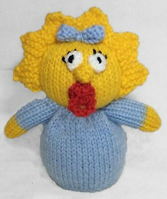 15 cms toy KNITTING PATTERN Lisa Simpson inspired chocolate orange cover