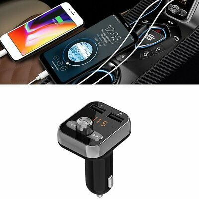 Hands Free Bluetooth Wireless Car AUX Audio Receiver FM Adapter USB Charger AU