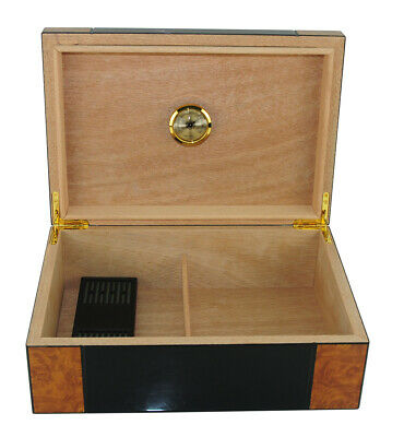 Hand Made 50+ CT Count Cigar Humidor Humidifier Wooden Case Box Hygrometer u