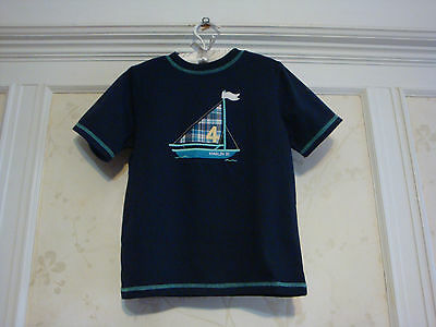 Nwt Janie And Jack Boys Sailboat Appliqu&eacute Tee Top Shirt 5 5T Dark Marin