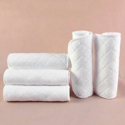 10Pcs Breathable Baby Cotton Washable Reusable Soft Cloth Diaper Diapers Inserts